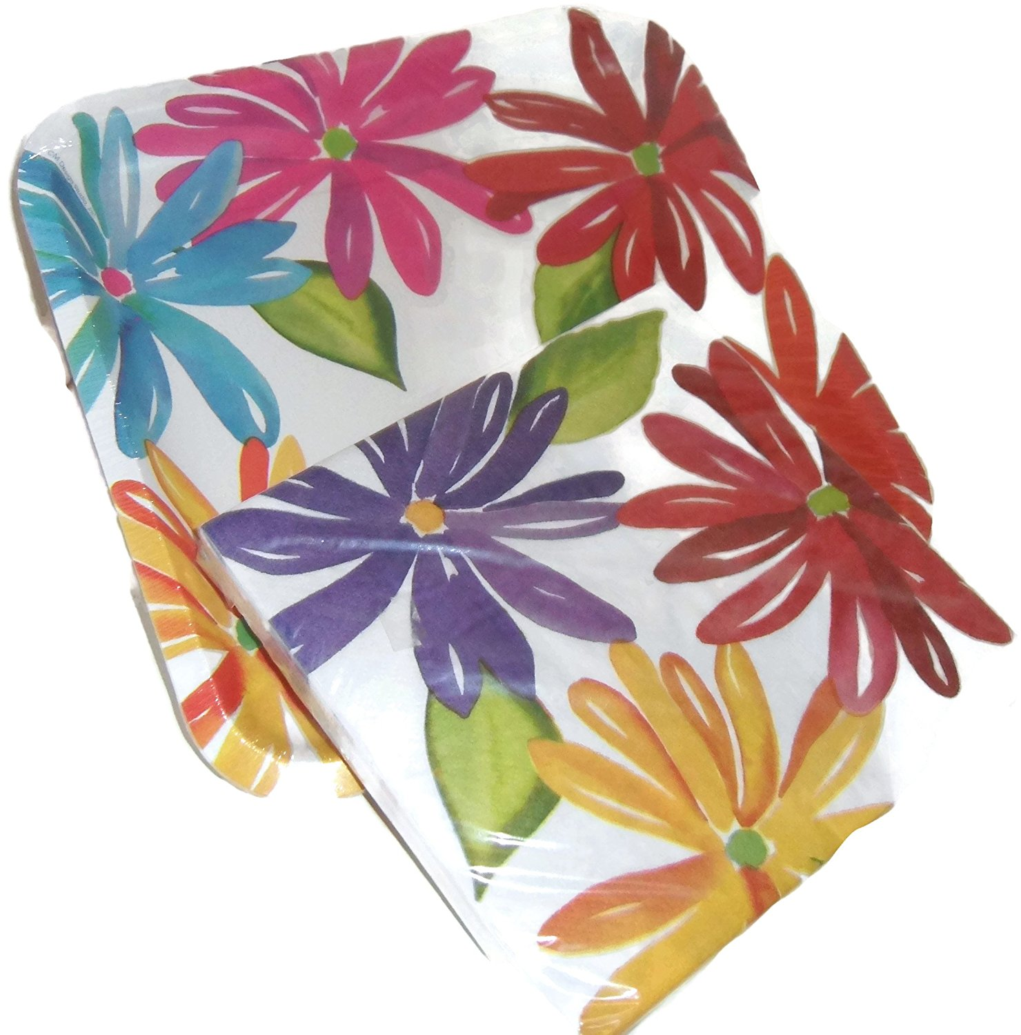 Cheap paper plates and napkins find paper plates and napkins deals get quotations squared flowered paper party plates and matching napkins set 8 plates 16 napkins mightylinksfo