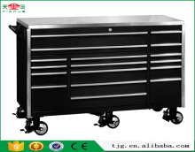 "TJG-TC72B17 Cheap Metal Storage Cabinet Type 72"" Tool Chest Stainless Steel Top 17 Drawers"