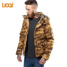 China Fabriek Groothandel Hoge Kwaliteit 100% Polyester Camo Colour Mode Winddicht Softshell <span class=keywords><strong>Winter</strong></span> Heren Donsjack