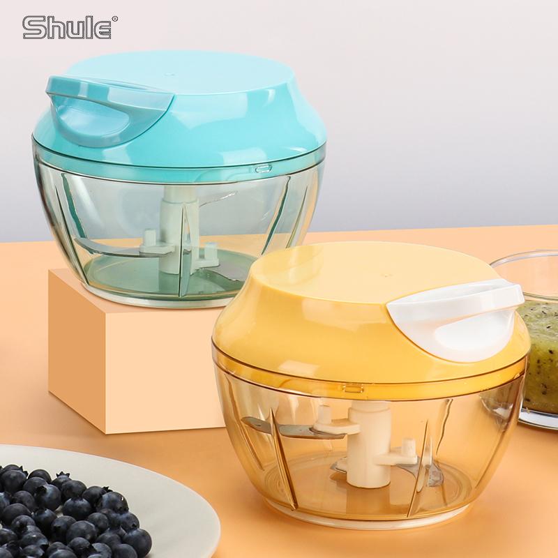 Mini Manuelle handheld multifunktionale professionelle kunststoff babynahrung mixer schnelles chopper mixer küchengeräte