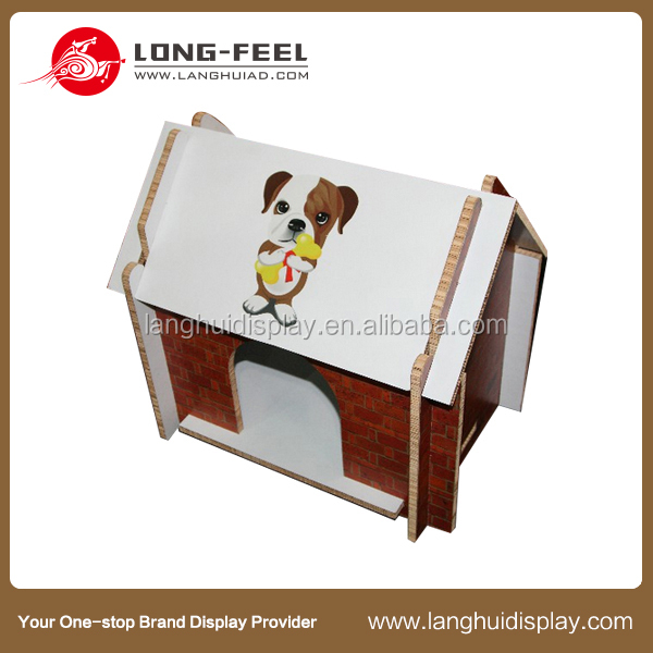 cheap and interesting cardboard crafts house for kids dog