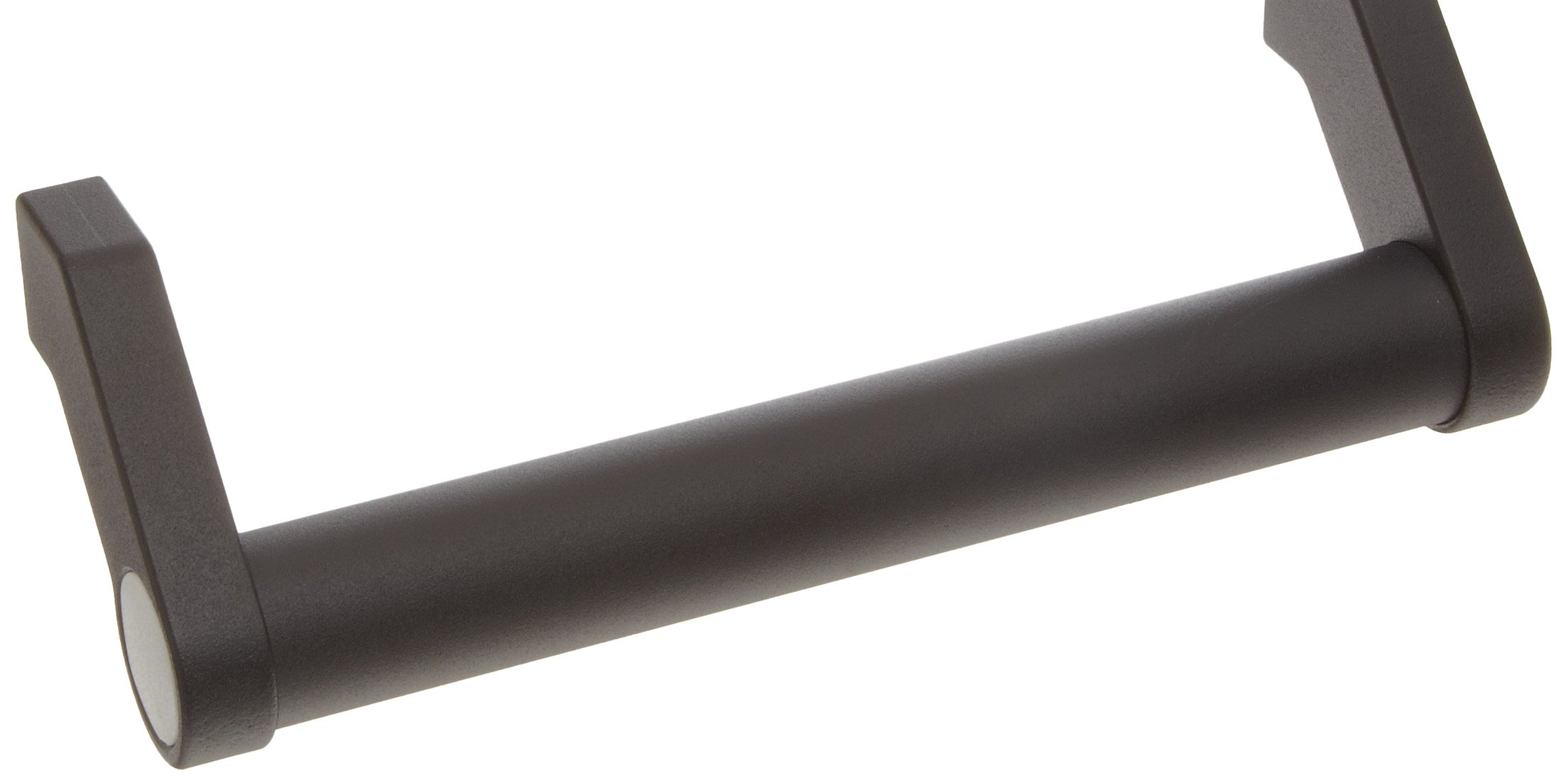 """Aluminum Offset Pull Handle with Threaded Holes, Round Grip, Black Powder Coated Finish, 8"""" Center-to-Center, 2-19/32"""" Projection, 1-3/32"""" Grip Size (Pack of 1)"""