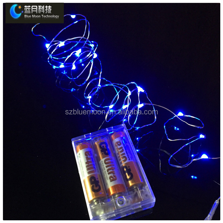 2m 20l color changing raindrop christmas lights with 3aa battery case - Raindrop Christmas Lights