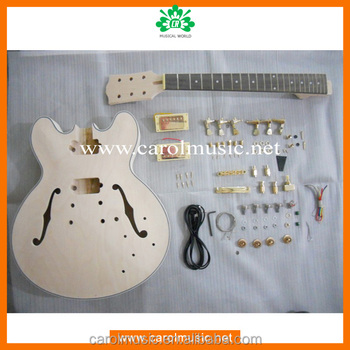 GK015 Unfinished Hollow Body Electric Guitar Kits