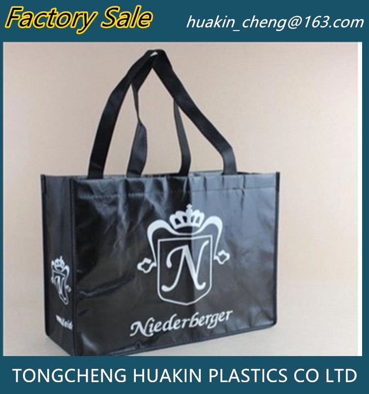 Wholesale OEM laminated Shopping Bag Eco-Friendly Handbag Manufacture Recycle Non Woven Bag
