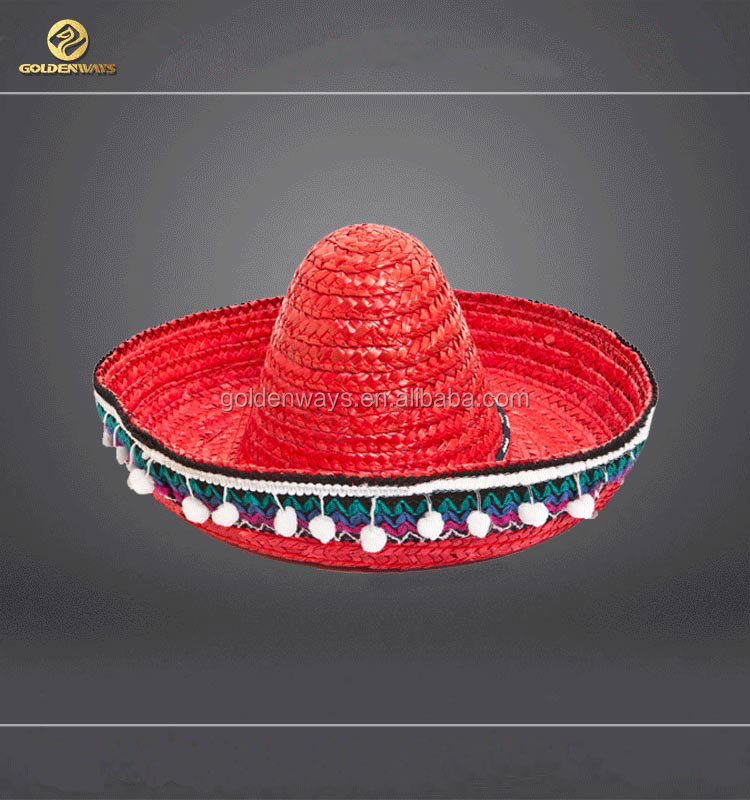 OEM faotory straw sombrero with customized logo with bsci