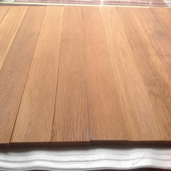 anti-sliped surface waterproof natural Burma Teak hardwood outdoor decking