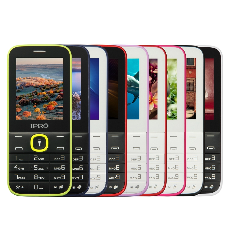 price list of ipro i324F 2.4 inch 2G cheap dual sim simple function mobile phone torch MP3 MP4 FM