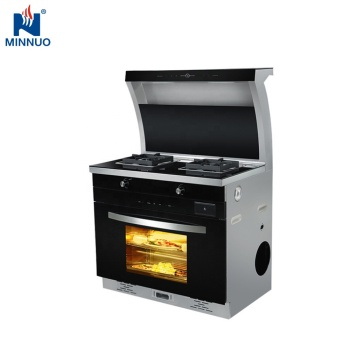 Food grade high end stainless steel free standing range cooker downdraft range hood with oven