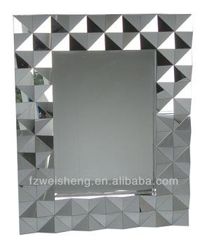 Wave Zig Zag Triangle Multi Facet Wall Mirror