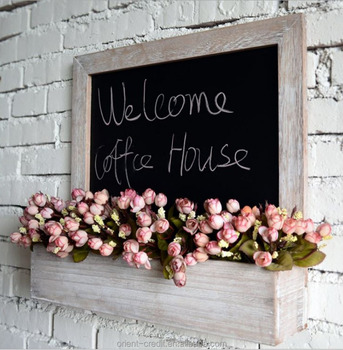 Rustic Wood Chalkboard Wall Mounted Flower Planter Container Box