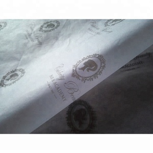 ZPT1-973 Grey color logo printed custom company logo printing tissue wrapping paper for hair extensions/ gifts/ clothes