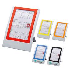 नई हटाने योग्य तह OEM मुद्रण लोगो वर्ग स्लाइड अप बटन कागज रोलर कैलेंडर लाल soild पुनश्च प्लास्टिक कार्यालय टेबल कैलेंडर