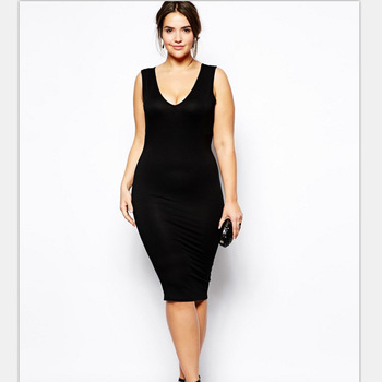 F30055a Womens Clothes Deep V Neck Plus Size Dress Bodycon Dress In 2017 -  Buy Plus Size Dress,V Neck Dress,Dress Women Product on Alibaba.com