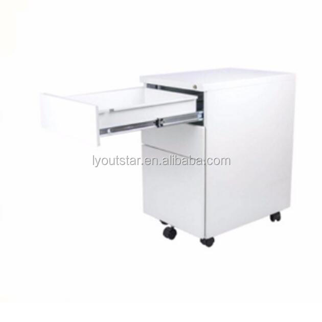 Office Equipment for A4 File Cabinet 3 Drawer Mobile Pedestal