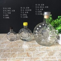 High Quality 50ml 125ml 515ml Vodka wine glass bottle