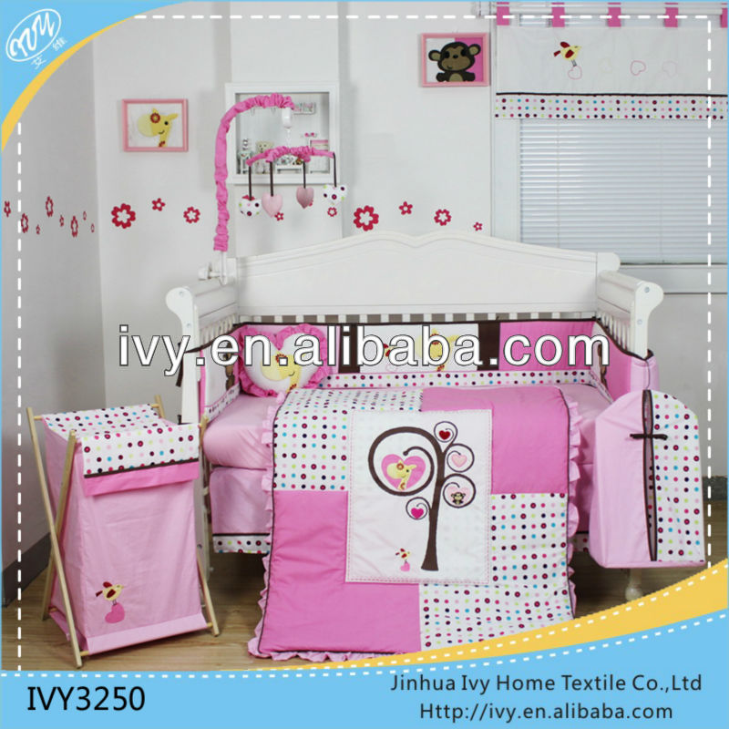 Girl princess kids bedding <strong>set</strong> for baby bedrooms