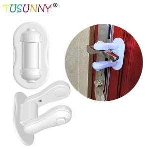 3M adhesive Child proof door handle lock baby safety door lever lock 2pcs/pack