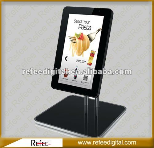 15 Inch Ipad Style Mall Hotel Table Stand advertising agency