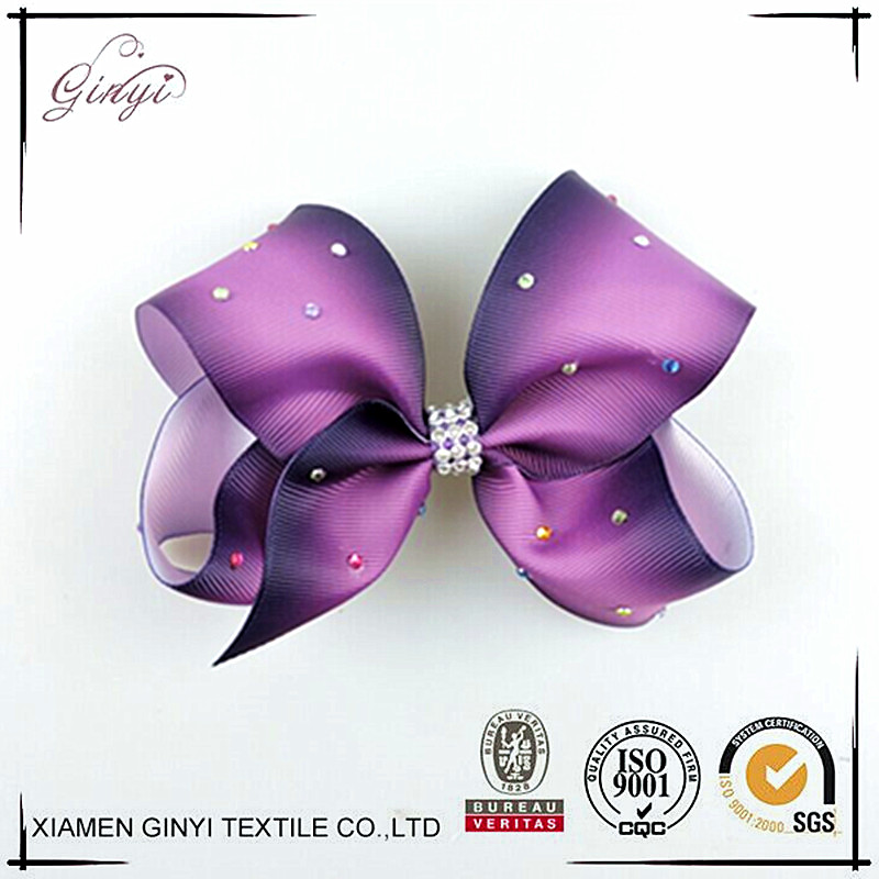 Kids Hair Ornaments Ombre Violet Hair Bows Bobby Pins GYHB-231