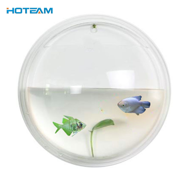 Wall Mount Mini Ronde Acryl Plastic Aquarium Aquarium