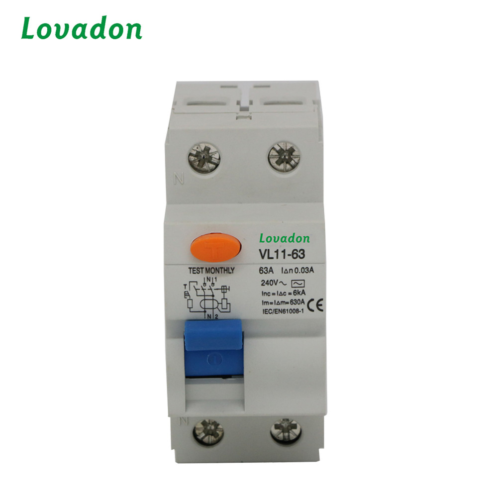 Protection Device RCCB 63A Rated Current 2P VL Type Residual Current Circuit Breaker