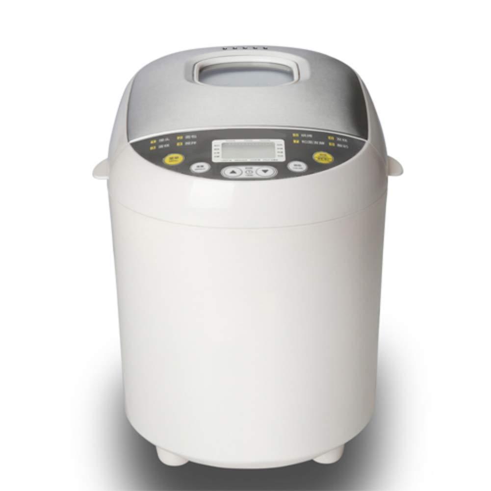 LJ-MBJ Taro Bread Machine, Household Fully Automatic Bread Baking Machine, Multifunction Intelligent Breadmaker, Yogurt Cake, Delay Timer-White
