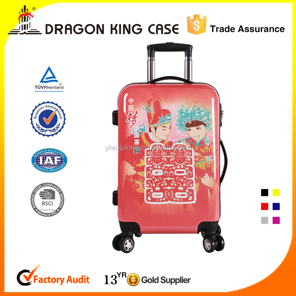 Chinese dream 20 inch 4 wheeled luggage case/ abs pc travelling suitcase