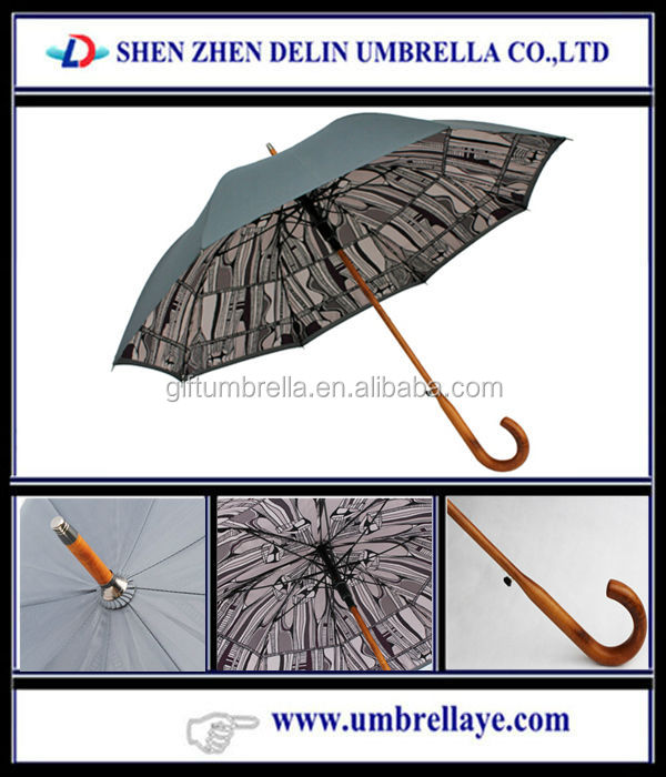 All inside printing wooden umbrella,pharmaceutical gift items
