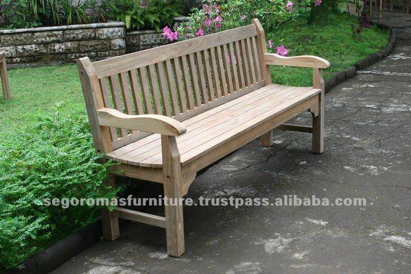 aulia per esterni in legno di teak patio mobili da giardino panca ...