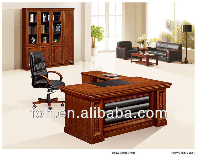 Luxury wooden office desk, Antique desk, Traditional executive desk (FOHS-A18112)