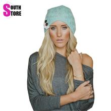 Southstore 2016 font b Winter b font Autumn Solid Fashion Knitted Beret Hat Blue Grey Black