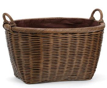 Gentil China Factory Supplier Wholesale Willow Log Big Storage Baskets For Fruit