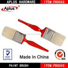 Hot Sale black or white bristle oil paint brush with plastic handle