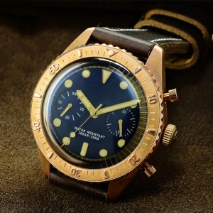 china factory oem cusn8 bronze watch Eta-7753 automatic movement Multi-function diving watch Pot-shaped sapphire