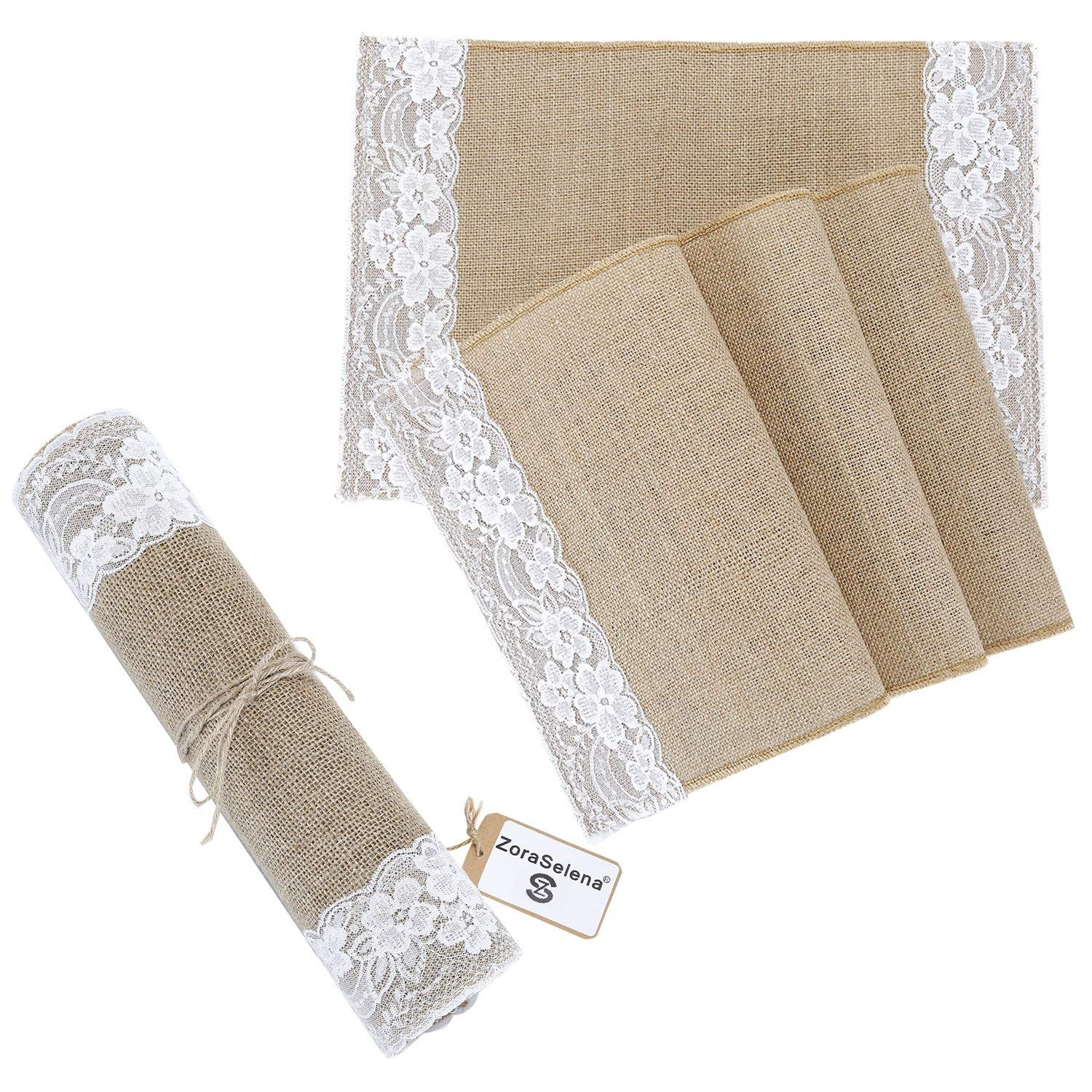 Hessian Burlap Craft Ribbon Table Runner Rustic Wedding Home Decor x 34cm