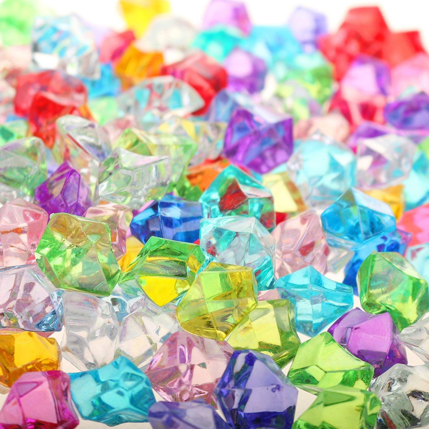 Pack of 120 Large Acrylic Jewels Gems for Kids Collage /& Card Making Childrens Arts and Crafts Embellishment