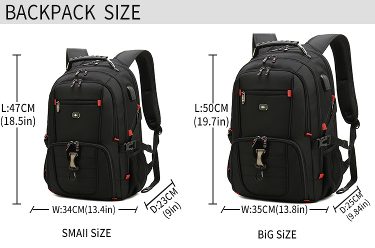 2020 new high-capacity nylon business laptop backpack backpack school bag travel backpack