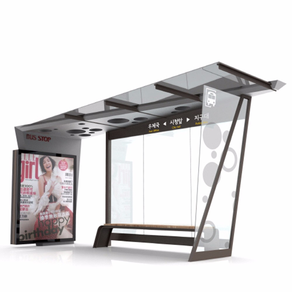 product-YEROO-Modern Popular Outdoor Advertising Bus Station High Quality Smart Bus Shelter-img-5