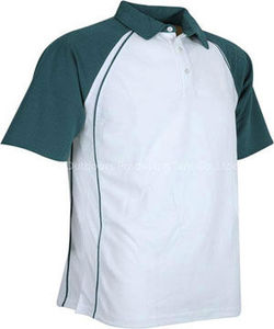 White & Sea Green Coach Polo Shirt