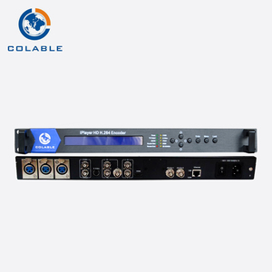Hd iptv catv satellite tv mmds headend video streaming encoder h 264 video  format with UDP multicast and asi output COL5100