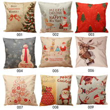 Free Shipping Christmas Throw Home Decorative Cotton Linen Pillow case K5BO