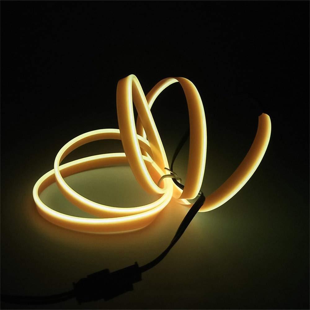 El Tape//Belt Onite 3ft White Neon Glowing Strobing Electroluminescent Ribbon