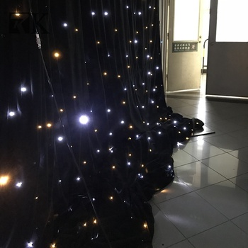 Star Curtain Led Cloth Lighted Stage Backdrop For Wedding Event Wall Decorate