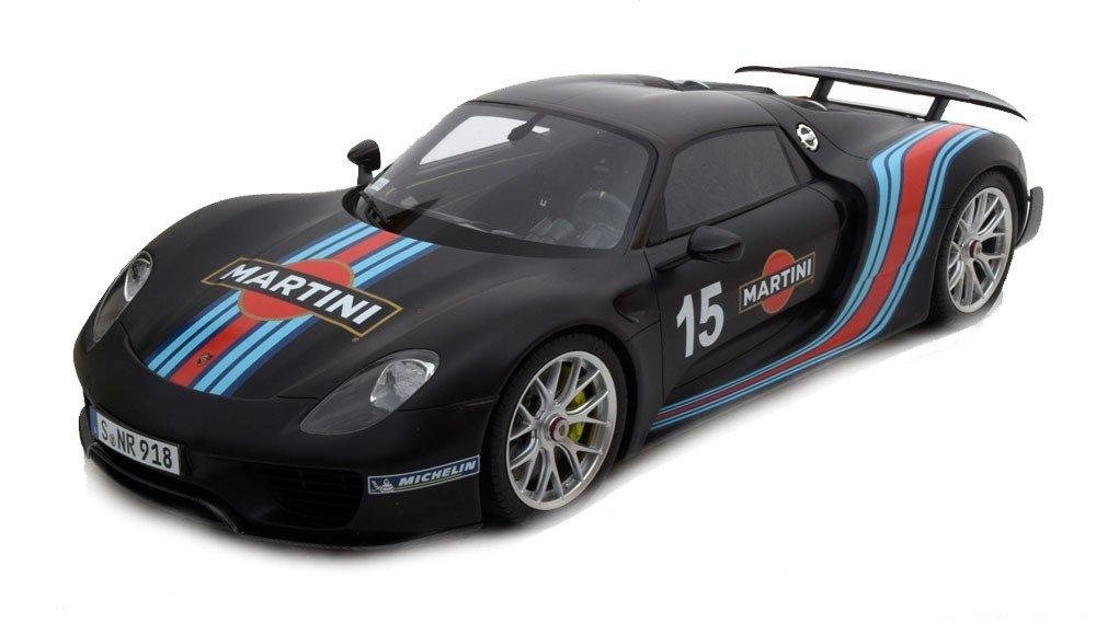 Modelcar GT Spirit 1/12 Porsche 918 Spyder Weissach Package black Martini Limited Edition 500 pcs.