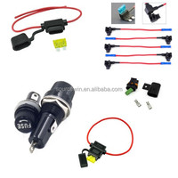 Car Auto waterproof Inline Panel mount 10*38 ATC Blade 20 AWG Mini Fuse Holder