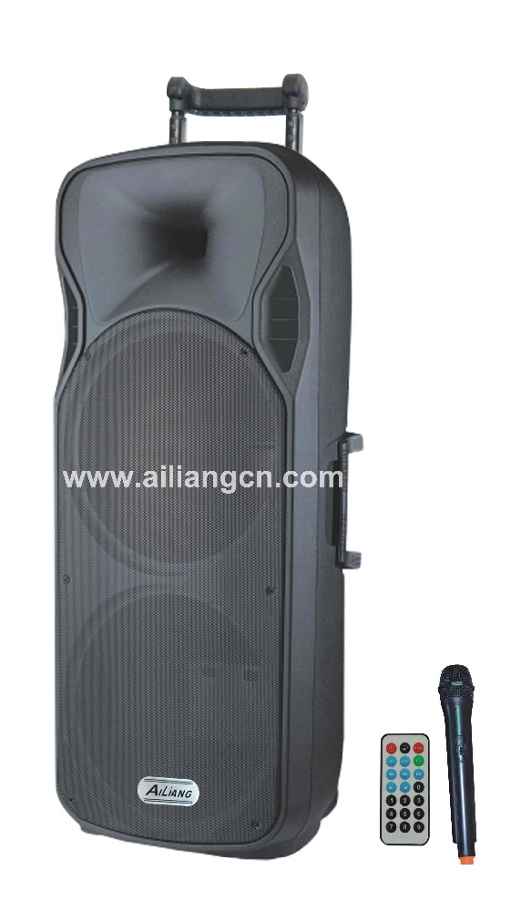 big power 12 inch Trolley Speaker for India market - USBFM-1502AK/AILIANG