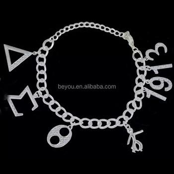 Delta sigma theta sorority crystal dst 1913 custom charm for Delta sigma theta jewelry