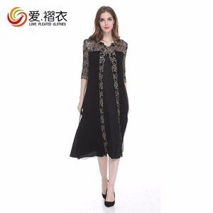 Newest Fashion One Piece Outfits Women Dress Black Spring And Fall Dress With Long Sleeves