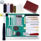 L29 68pcs Complete Leather Craft Tool Sets DIY Crafting Supplies for Leather Stitching/Cutting/Punching /Sewing
